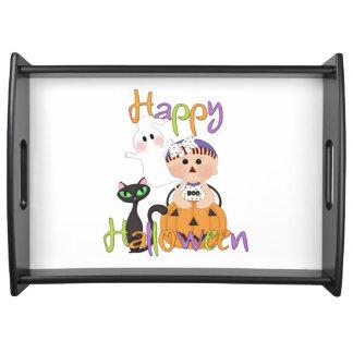 Amis heureux de partie de Halloween Plateaux