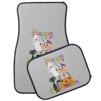 Amis heureux de partie de Halloween Tapis De Sol