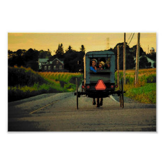 Amish Afternoon Poster