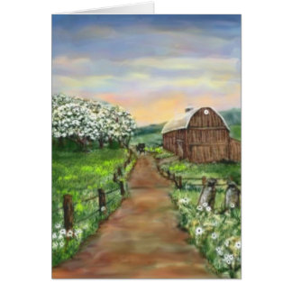 Amish Apple Blossoms Card