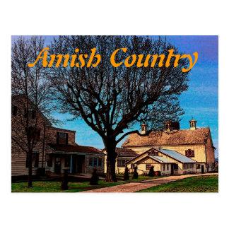Amish Barn Postcard