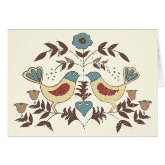 Amish Birds Cottage Chic Distlefink Card