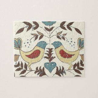 Amish Birds Cottage Chic Distlefink Jigsaw Puzzle