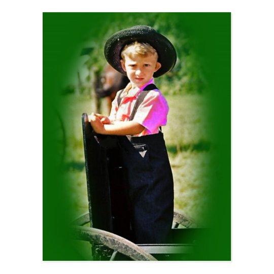 Amish Boy Postcard