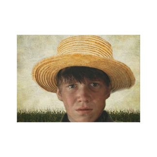 Amish Boy Potrait Canvas Print