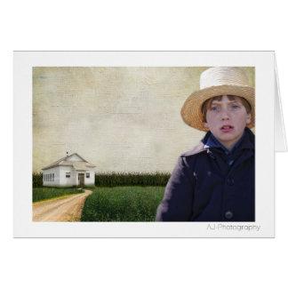 Amish Boy Potrait Card