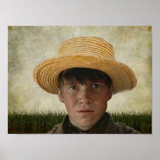 Amish Boy Potrait Poster