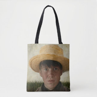 Amish Boy Potrait Tote Bag