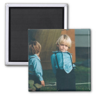 Amish Boys Lancaster County PA Magnet