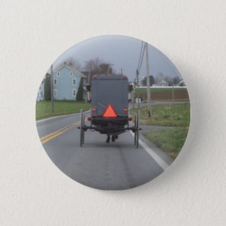 Amish Buggy 2 Inch Round Button