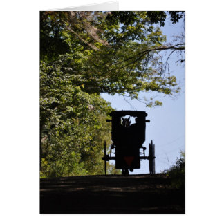 Amish Buggy -Day Silhouette Card