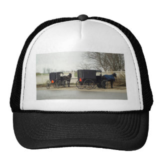"Amish Buggy ""Parking Lot"" Trucker Hats"