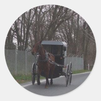 Amish Buggy Sticker