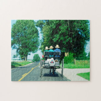 Amish Carriage Indiana. Jigsaw Puzzle