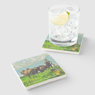 Amish Coasters, Amish Farmer and Horses! Stone Coaster