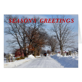 Amish Country Winter Lane Card
