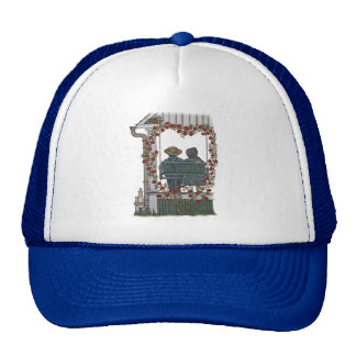 Amish Couple On Porch Swing Mesh Hat