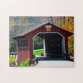 Amish Covered Bridge. Jigsaw Puzzle