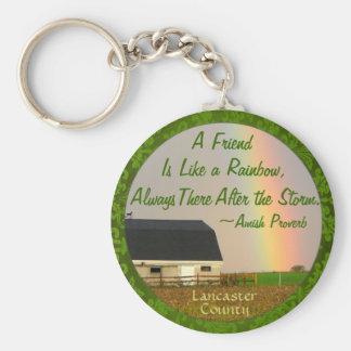 Amish Friendship proverb Keychain! Basic Round Button Keychain