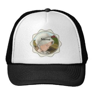 Amish Girl Bonnet Trucker Hat