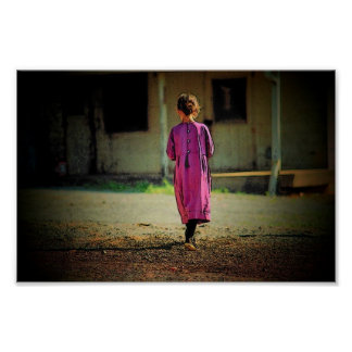 Amish Girl Poster
