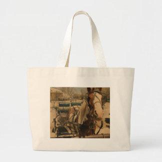 Amish Horse, A Pinto Large Tote Bag