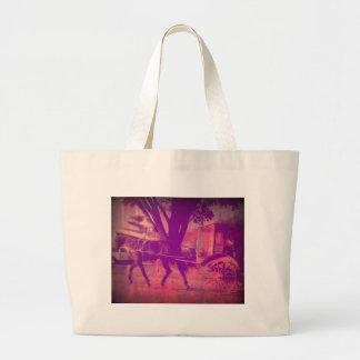 Amish Horse and Buggy Large Tote Bag