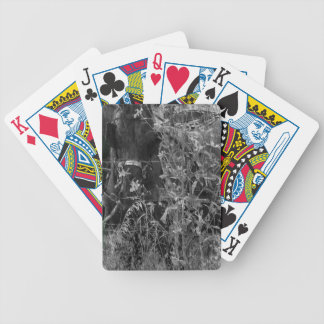 Amish Horse Black and White Grunge Bicycle Playing Cards