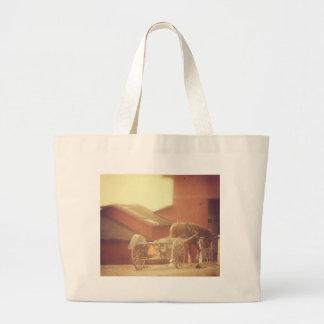 Amish Horse Large Tote Bag
