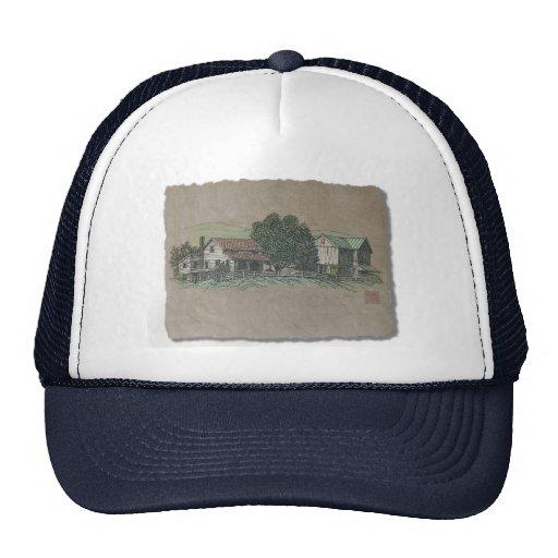 Amish House & Barn Trucker Hats