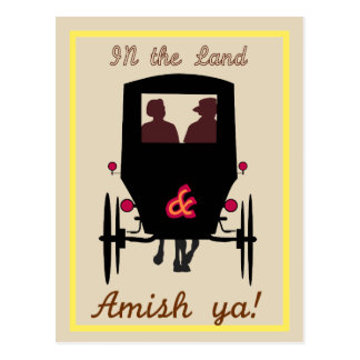 Amish Land Postcard
