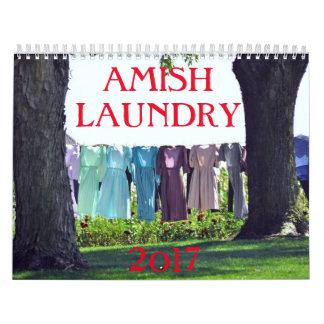 AMISH  LAUNDRY  2017 WALL CALENDAR