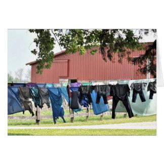 Amish Laundry Card