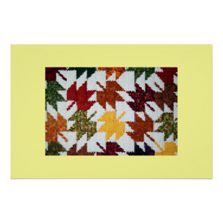 Amish Leaves Poster