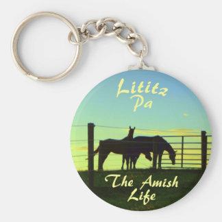 Amish Life, Lititz Horses Ketchain Keychain