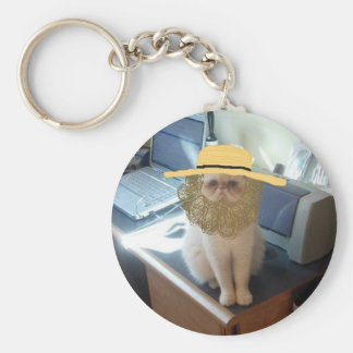 Amish Linus Basic Round Button Keychain