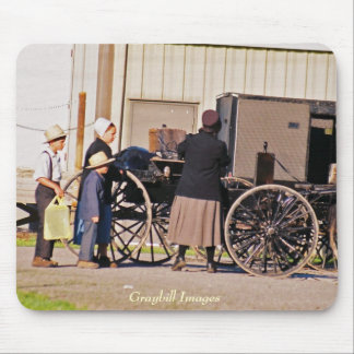 Amish Loading Buggy Mouse Pad