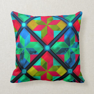 Amish Pinwheels on Steroids Throw Pillow