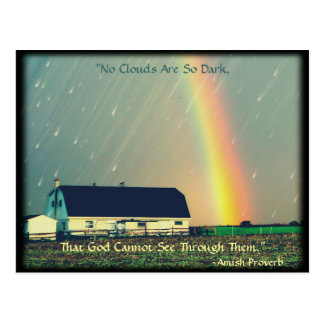 Amish Postcard Proverb Encouragement. Religious