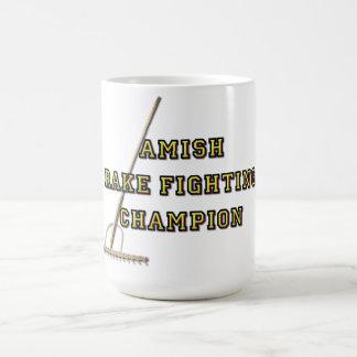 Amish Rake Fighting Champion Coffee Mug