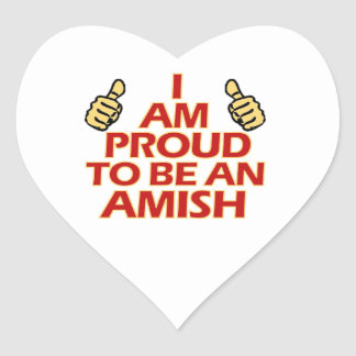 AMISH religious designs Heart Sticker