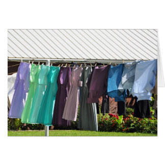 Amish Spring laundry Card