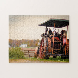 Amish Steam Tractor Jigsaw Puzzle
