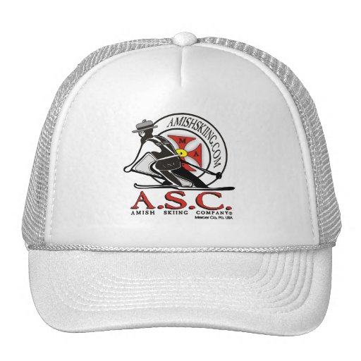 Amish Surfing  And Skiing Trucker Hats