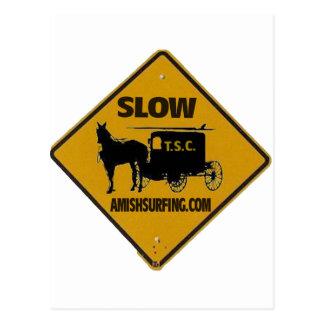 Amish Surfing Slow Crossing shirt Postcard