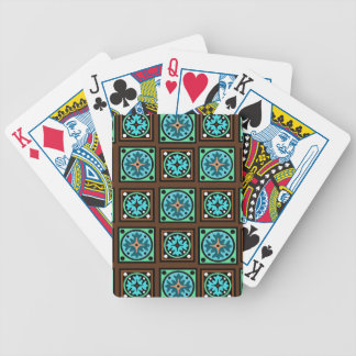 Amish Textile Print Bicycle Playing Cards