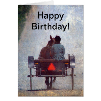 Amish Travel, Birthday Card