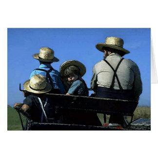 Amish Watercolor Card