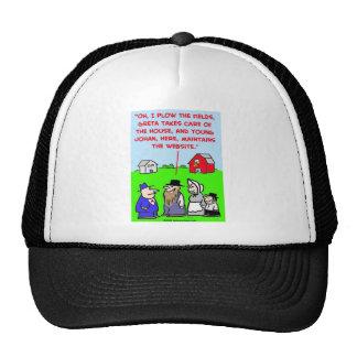 amish website trucker hat