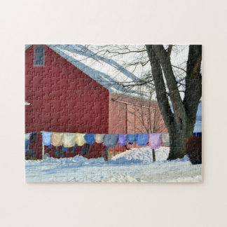 Amish Winter Laundry Puzzle